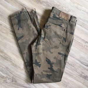 ZARA Basic Department Camouflage Moto Jean Sz. 6